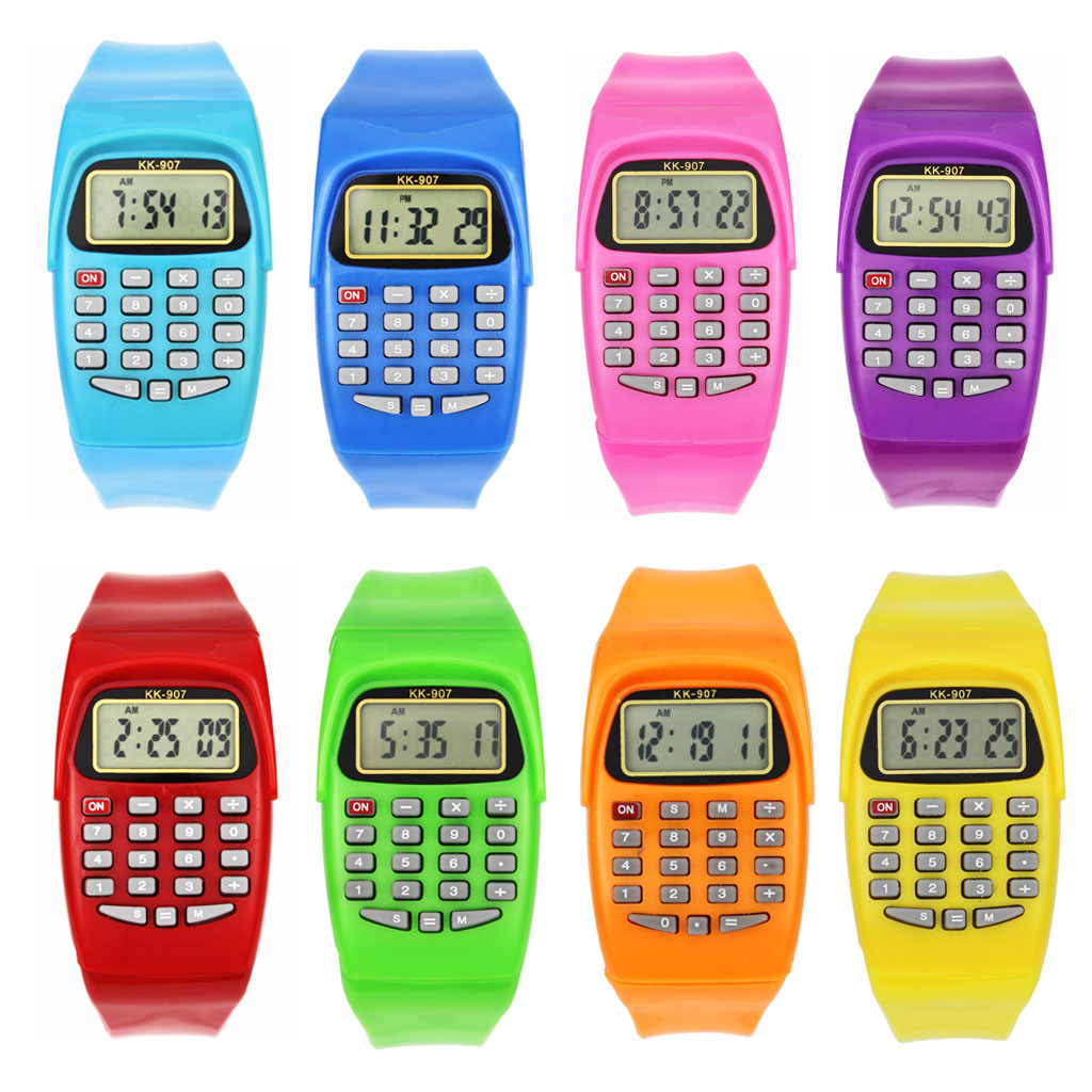 Uncategorized Kid Calculator compare prices on kid calculator watch online shoppingbuy low led electronic digital chronograph computer kids child boys girls rubber wrist watcheschina
