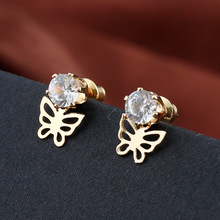 Creative personality bowknot women stud earrings outside Europe and the United States delicate fashion accessories