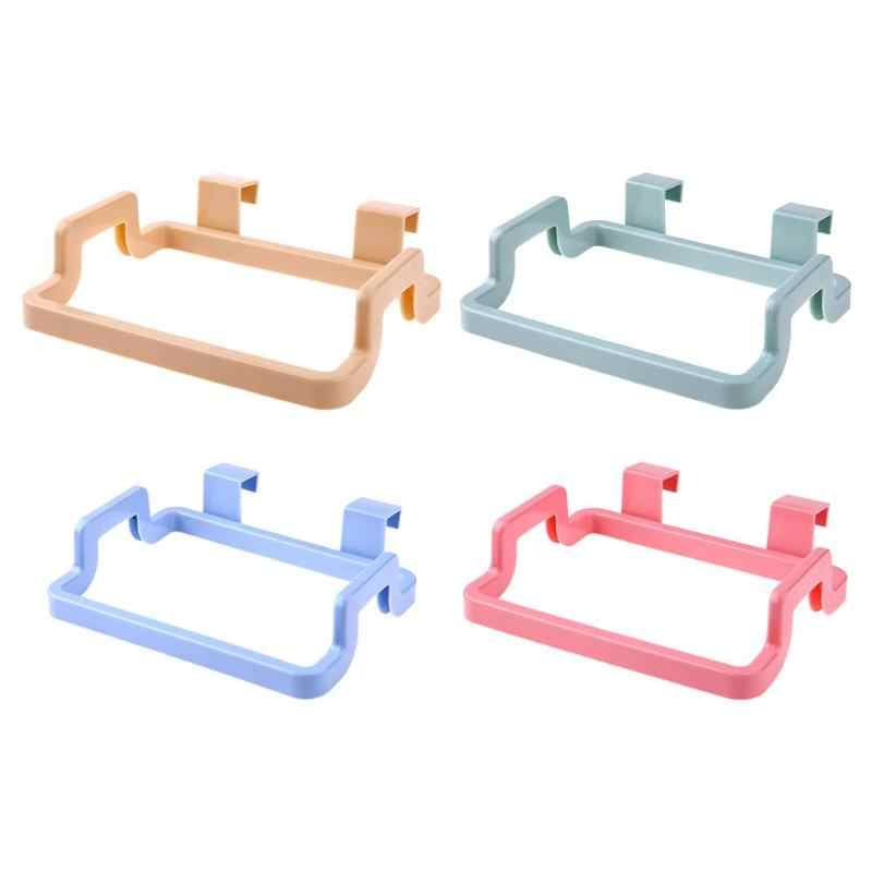 Multi-function ABS Plastic Garbage Bag Holder Hanging Cupboard Cabinets Towel Storage Rack Garbage Bag Holder Kitchen Tool