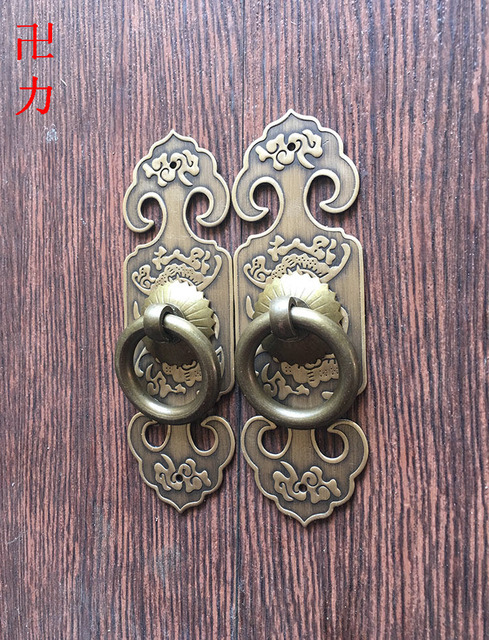 Chinese antique furniture hardware accessories copper copper cabinet  handles bones straight handle door handle - Authentic! Chinese Antique Furniture Hardware Accessories Copper