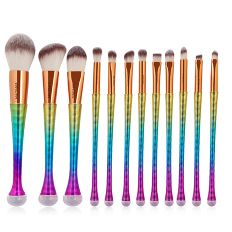 цены 12 Pcs Makeup Brushes Set Foundation Blending Pencil Eyebrow Eye shadow Brush Eyeliner Eyelid Lip Cosmetics Tools