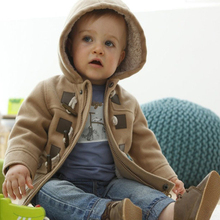 Baby Boys Jacket 2017 New Winter Clothes 2 Color Outerwear Coat Cotton Thick Kids Clothes Children Clothing With Hooded