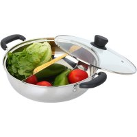 MYLIFEUNIT Shabu Shabu Hot Pot Dual Sided Yin Yang Hot Pot Stainless Steel Divider Soup Pots Kitchen Cookware Supplies