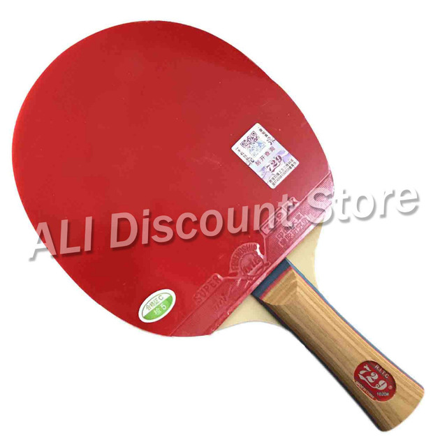RITC 729 Friendship 1020# Pips-In Table Tennis Racket for Ping Pong Shakehand long handle FL 1