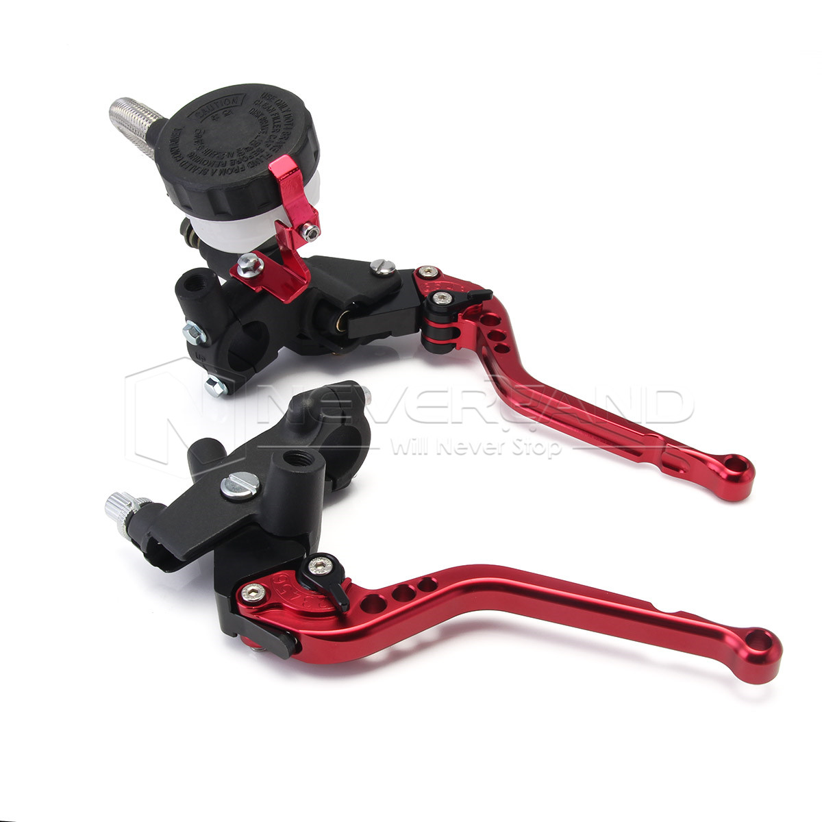 New Red Handlebars Cable Motorbike Brakes 7/8'' Clutch Brake Levers Master Cylinder Reservoir For Honda D20 new motorbike brake clutch levers