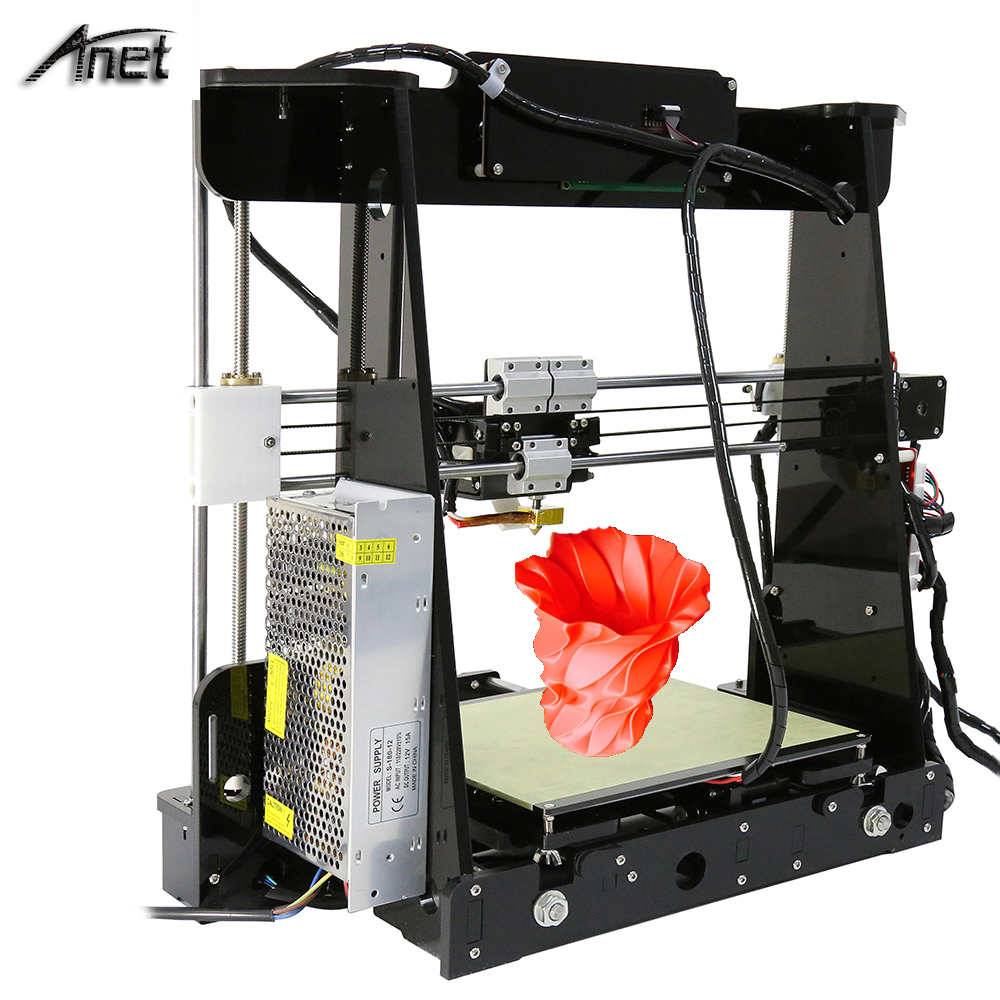 Auto Level Normal A8 Reprap Prusa i3 DIY 220 220 240mm 3D Printer Kit with 1Rolls