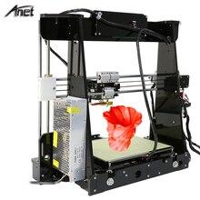 Nivel de auto y normal a8 reprap prusa i3 diy 220*220*240mm kit de impresora 3d con 1 rollos/10 m filamento + 8g tarjeta sd de vídeo + herramientas