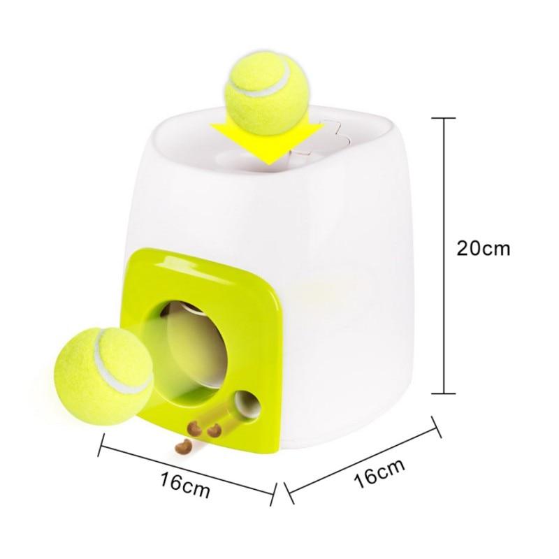 Interactive Tennis Ball Launcher and Treat Dispenser