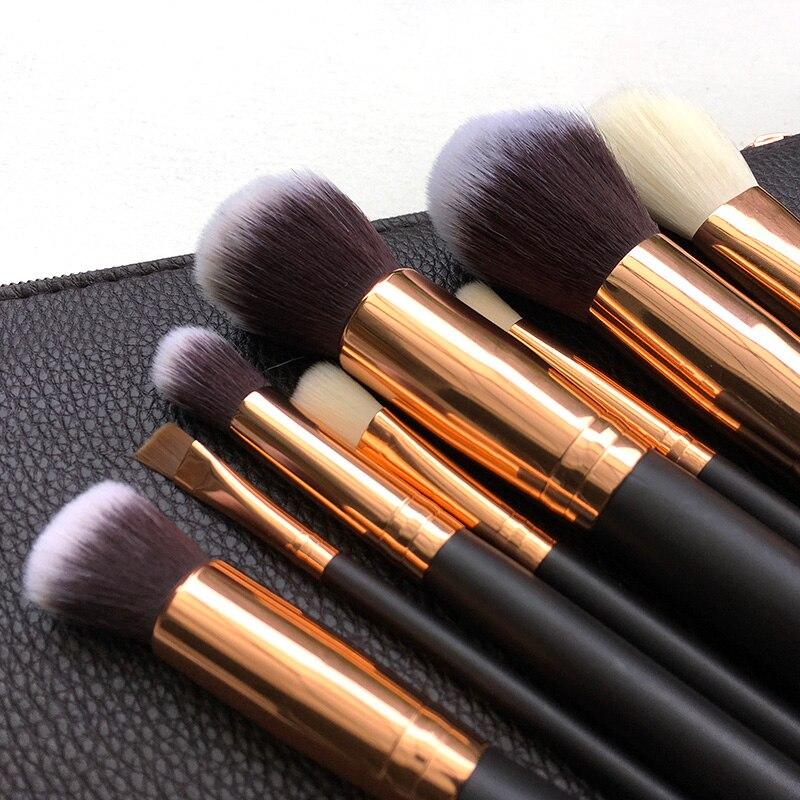 Professional Brand 8 pcs Makeup Brushes Set Powder Foundation Eyes shadow Eyebrow Brush Cosmetics Make Up Tool цена