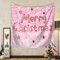 Merry Christmas Printing Tapestry Wall Hanging Decor Bohemian Room Wall Decoration Tapestries Yoga Mat Bedspread Beach Towel