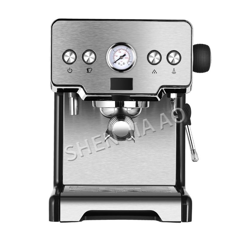 Stainless Steel Italian Coffee Maker espresso machine 15bar home semi-automatic pump type coffee machine 1450W