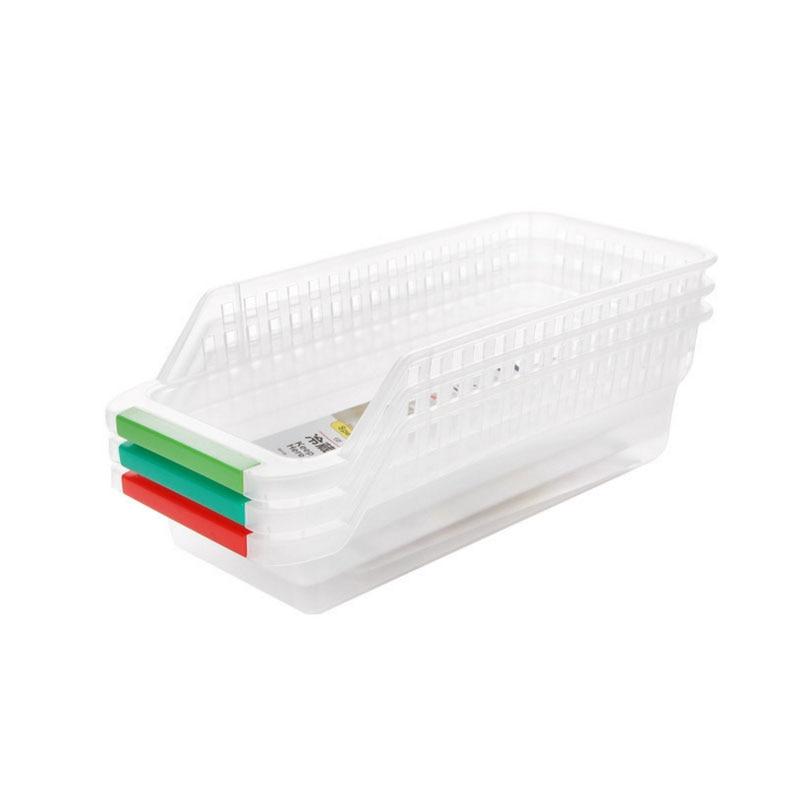 Refrigerator storage basket egg vegetable fruit food beverage hollowed drawer type storage box plastic Summer storage box