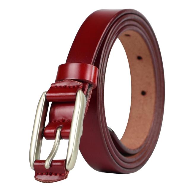 Ladies Fashion Multi Color Thin Genuine Leather Belt