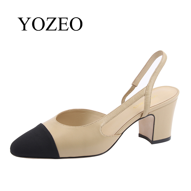 цены women office shoes medium high heel ladie genuine leather shoes women sandals fashion 2018 new spring summer classic lady pumps