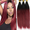 ombre brazilian hair Cheap 7A Brazilian Virgin Hair straight 3pcs Ombre Human Hair extensions Realove Hair Products no shed
