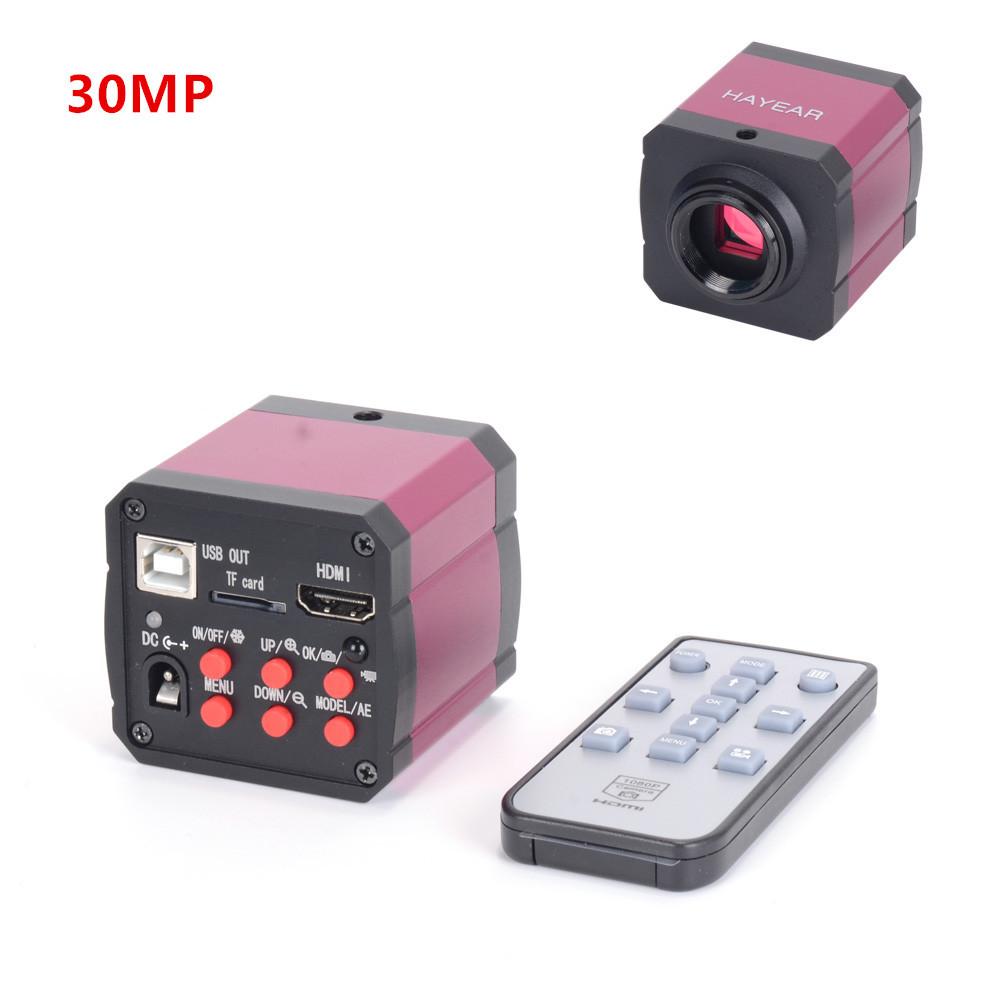 Full HD 1080P 30MP 60FPS Industrial Soldering Microscope Camera HDMI 2K Monocular Video Camera Digital Magnifier
