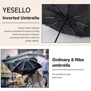 Image 5 - Yesello Folding Reverse Umbrella Rain Women Men Big Windproof Black Coating Sun Umbrellas Gifts Parasol Automatic BusinessUmbrla