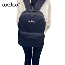 Лидер продаж 2016 года холст рюкзак мода Обувь для мальчиков и Обувь для девочек Школьный рюкзак Day & Night Вышивка рюкзак Причинно сумка Mochila XA1251B
