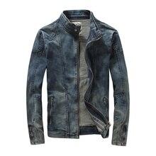 MYAZHOU, европейская, американская, весенняя, мужская, хлопковая, стоячий воротник, для досуга, тонкая джинсовая куртка для мужчин, Корейская дизайнерская, Облегающая джинсовая одежда