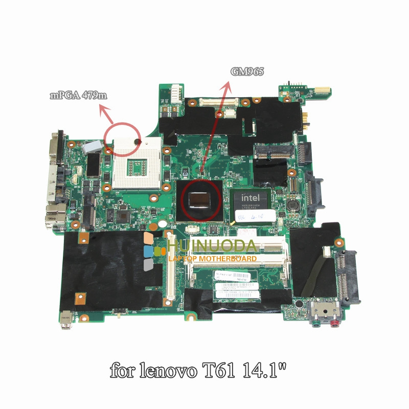 NOKOTION 41W1487 14.1'' Inch Notebook PC Main Board For Lenovo Thinkpad T61 Motherboard System Board DDR2 Free CPU