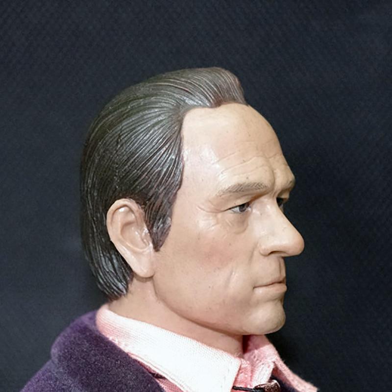 1/6 Male Headdress Tommy Lee Jones Male Military C-0020 Sculpture Model 12 Male Action Modeling Model