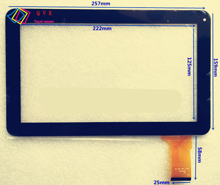 Black White 10.1 Inch For Polaroid Pearl MIDC410 Capacitive Touch Screen Panel Repair Replacement Spare Parts