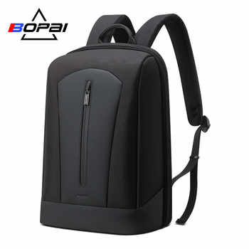 BOPAI 2019 Black Back Pack Business Men's Laptop Backpack Male Rucksack Separate Main Bags School Backpack with Breathable Back - DISCOUNT ITEM  50% OFF All Category