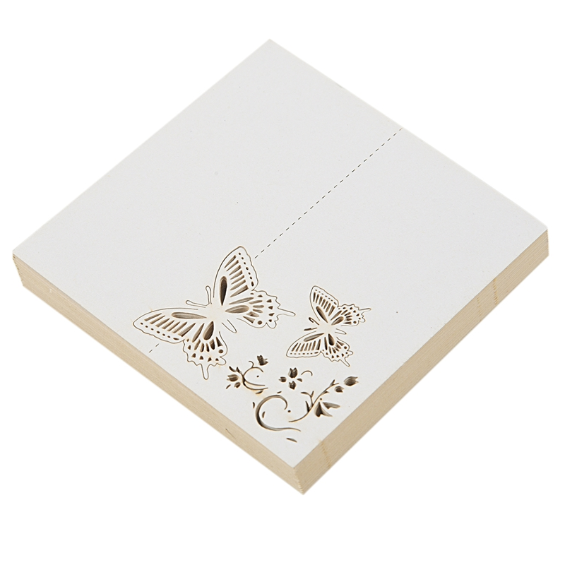 50pcs Butterfly Paper Place Card Holder Name Cards Table Number For Wedding Event Party