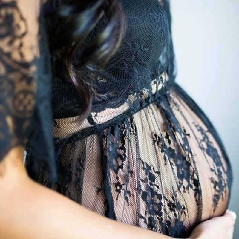 Lace See Through Maternity Dress Fancy Studio Clothes Pregnancy Photography Prop