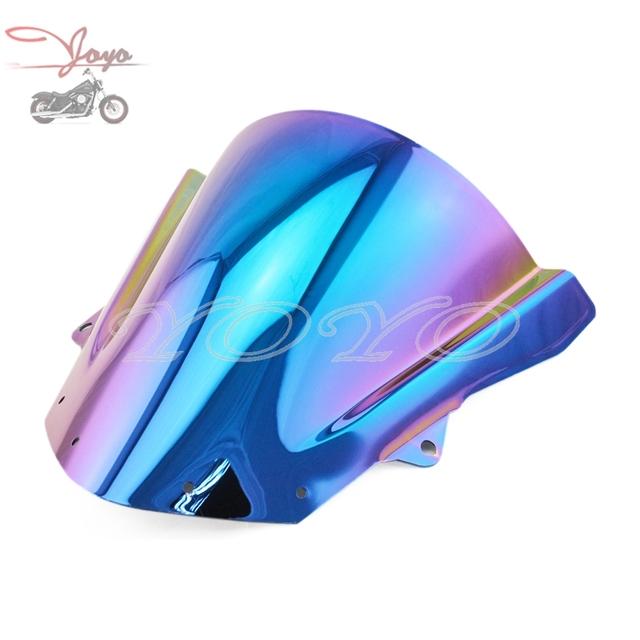 Iridium motocicleta plástico abs parabrisas colorida parabrisas para kawasaki zx6r 2009-2016 zx10r 2008 2009 2010