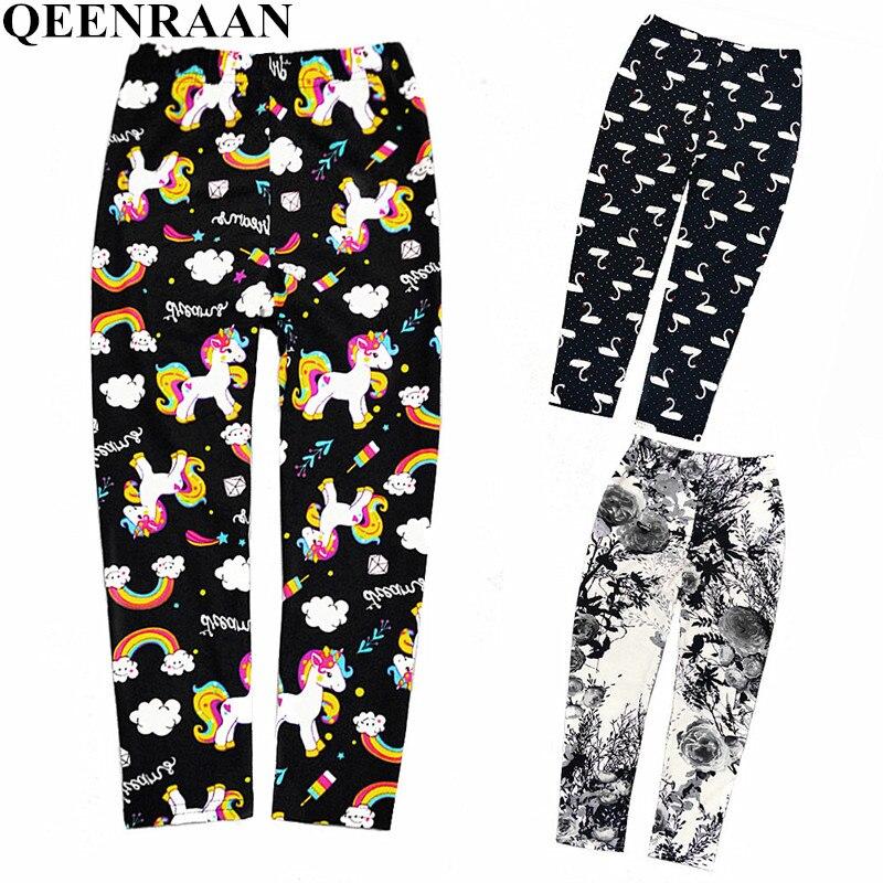 Sweet Kids Printing Leggings Girls Spring Summer Trousers For Children Flower Skinny Pencil Pants Fashion Girls Leggings