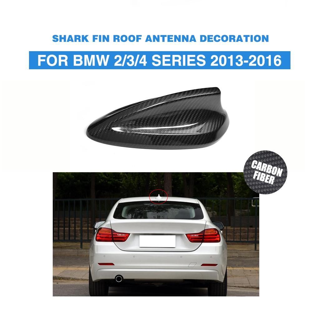 Carbon fiber car roof antenna decoration auto top antenna aerial trim sticker for bmw 2 3