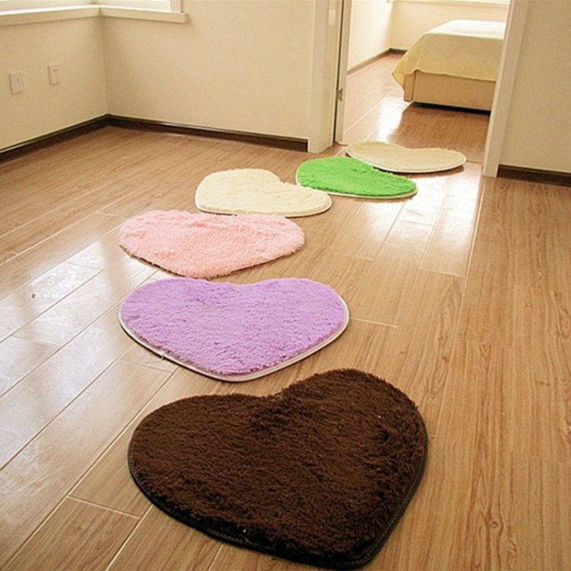 Fur Cute Heart Carpet Rugs Mat Bedside Soft Shaggy European Fluffy Kids Baby Room Fur Area Rug Living Room Home Warm Plush Floor