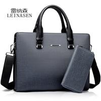LEINASEN Luxury Brand TOP Grade PVC Men Laptop Bag Briefcase Fashion Men S Business Bags Casual