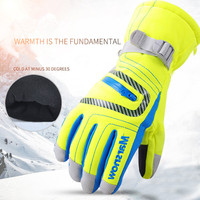 Men Woman Snowboard Mittens Snow Guantes Mujer Ski Gloves Windproof Waterproof Skiing Motorcycle Luva Full Finger