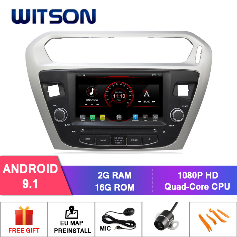 WITSON Quad core Android 9 1 car dvd player For CITROEN ELYSEE PEUGEOT 301 2G RAM
