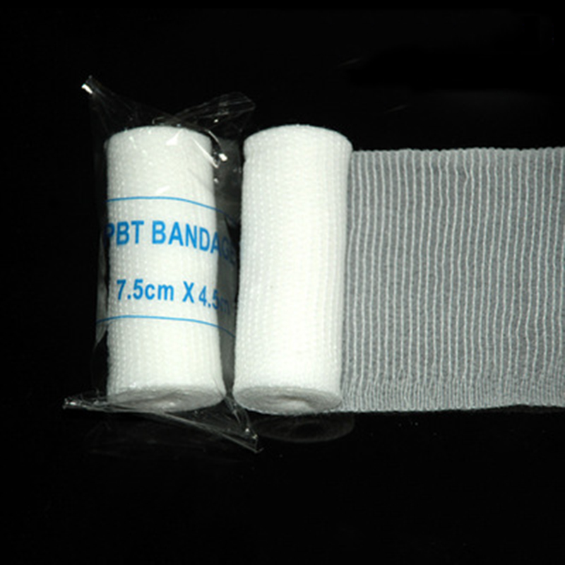 10rolls 7.5cmx4.5m PBT Elastic Bandage Family First Aid Kit Accessories Gauze Roll Wound Dressing Medical Emergency Care Bandage
