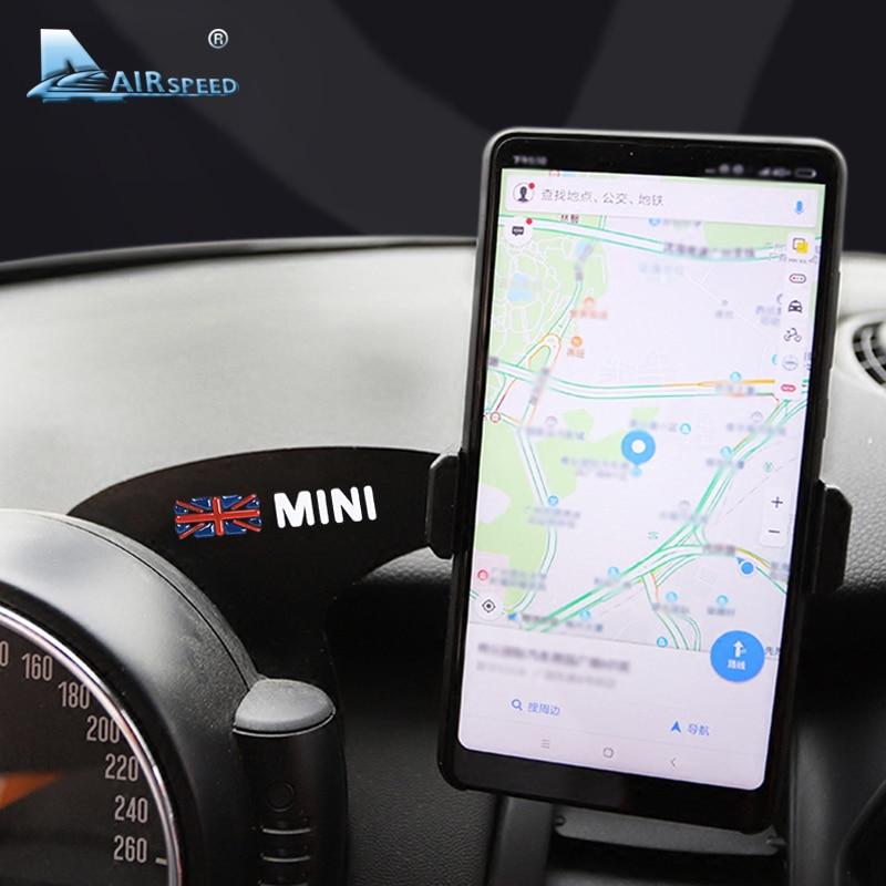 Airspeed Union Jack Bracket Car Mobile Phone Holder Auto Steering Wheel Rear Phone Mount for Mini Cooper F54 F55 F56 Accessories steering wheel phone holder