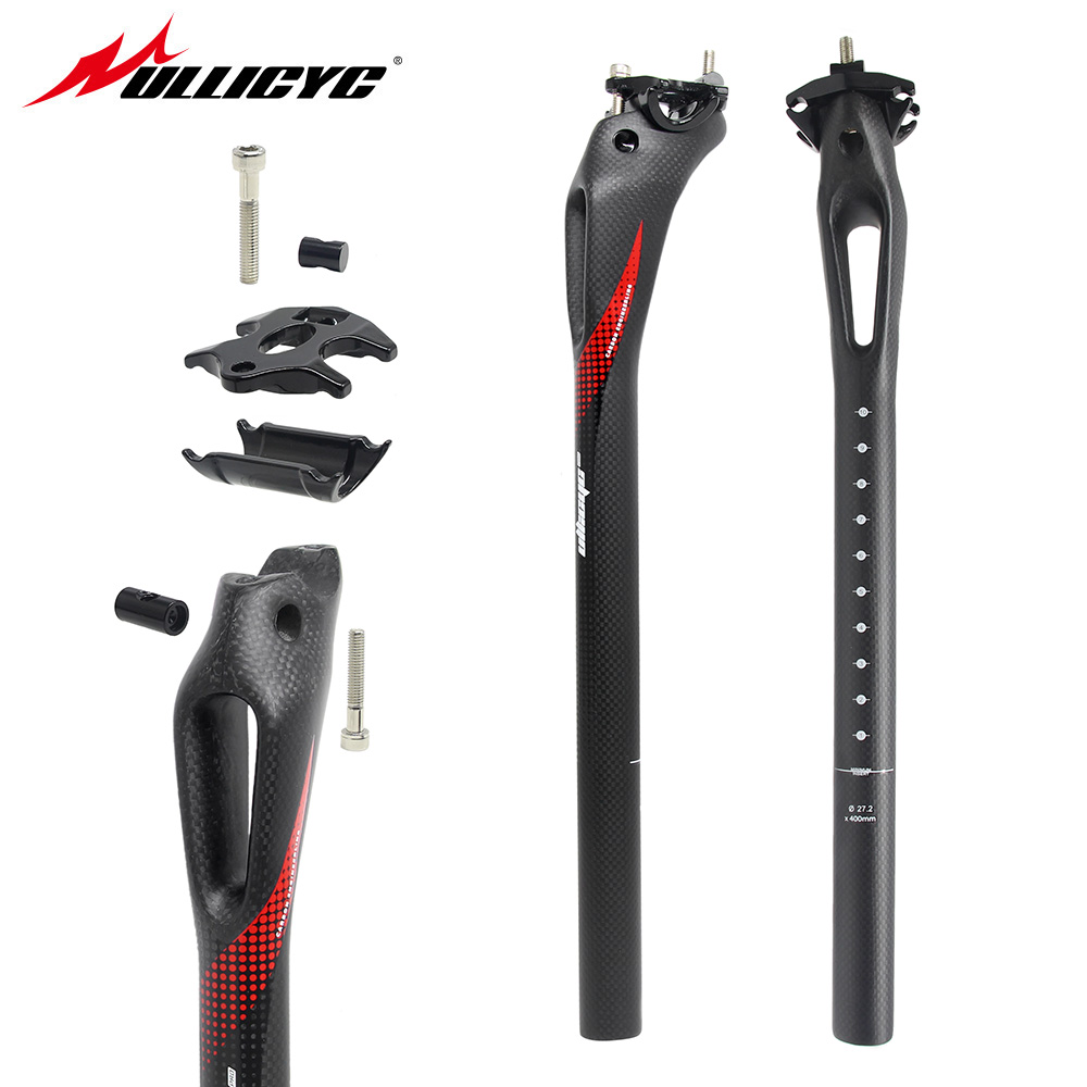 Ullicyc Mountain/road bike Aerodynamic force 3K full carbon fibre bicycle seatposts parts 27.2/30.8/31.6*350/400  HP130 new oem ec90 mountain bike carbon seatposts road bicycle ud full carbon fibre seatposts mtb parts 27 2 30 8 31 6 400mm free ship