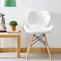 Nordic INS Restaurant Möbel Stuhl Esszimmer Moderne Pu China Eisen Stuhl Holz Küche Esszimmer Stühle für Esszimmer Zimmer Sofa-in Esszimmerstühle aus Möbel bei