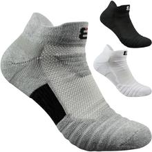 Elite Socks 3pair High Quality Brand  Men Short Cotton Breathable White Black Gray Male