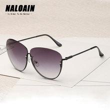 NALOAIN Sunglasses Women Metal Frame UV400 Luxury Brand Designer Ladies Summer Oversized Fashion Vintage Sun Glasses A262