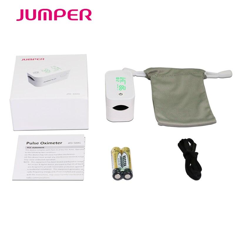 Jumper New Finger Pulse Oximeter With Bluetooth Fingertip Oximetro de pulso de dedo LED Pulse Oximeters Saturator Pulsioximetro