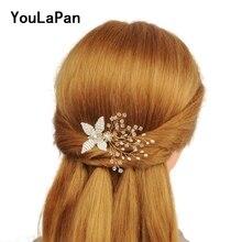 YouLaPan HP66 свадебный гребень для волос Свадебные аксессуары для волос гребень для волос для невесты с хрустальные свадебные аксессуары украшения