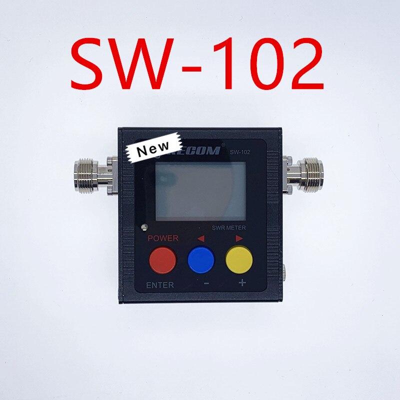 Version de mise à niveau Surecom SW-102 125-525Mhz VHF/UHF antenne puissance et SWR mètre + SMA-M et connecteur de SMA-F pas pour le système DMR