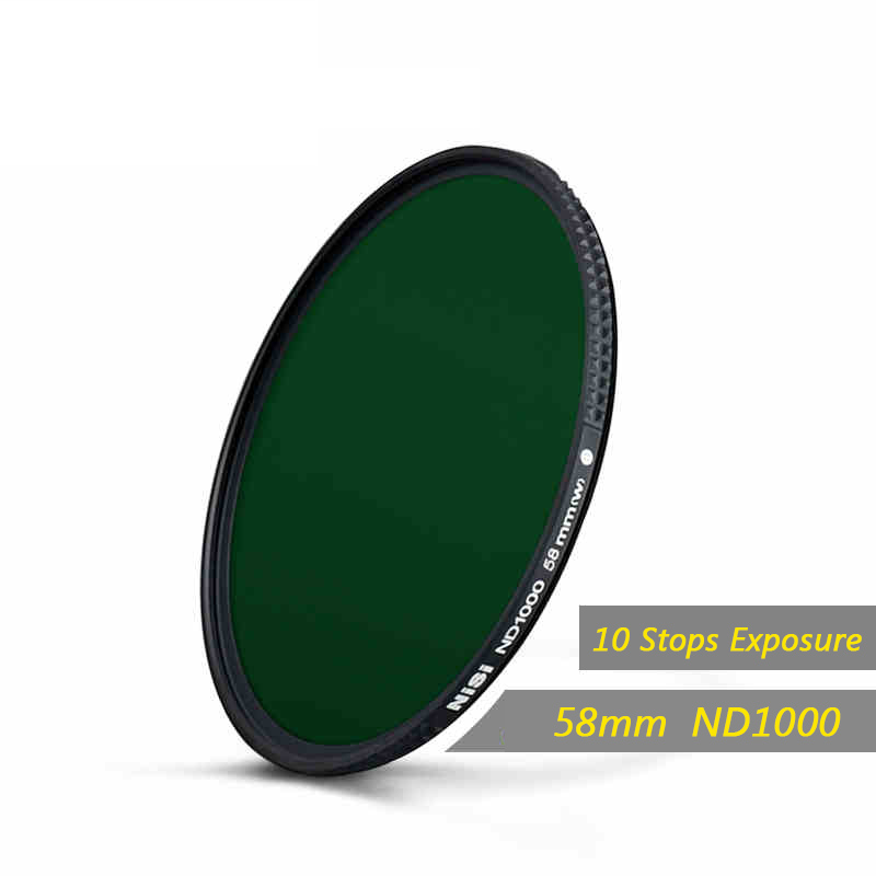 Nisi 58mm Nd1000 Filter Neutral Density Filters Ultra Slim Nd 1000 Gray Filter Mirror Landscape Photography Lens Free Shipping nisi 58mm nd1000 ultra thin neutral density filter 10 stop for digital slr camera nd 1000 58mm slim lens filters
