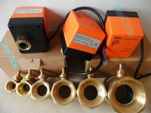 "Image 2 - ไฟฟ้า actuator มอเตอร์วาล์วบอลวาล์วทองเหลือง AC220V DN15 (G1/2 "") DN50 (G2"") 2 way 3 สายควบคุมอัตโนมัติ shut   off valve"