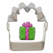 1Pc Gift Box Shape Stainless Steel Christmas Gift Box Cookie Cutter Pastry Cake Mold Baking Tool 3.5*6.6*2cm