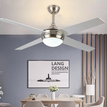 LED42-inch Nordic retro ceiling fan light bedroom home 1-6 gear fan with light integrated AC110V 220V mute with remote control 220v 8 inch 2 gear mini fan mute office children s fan cartoon mini fan high quality with 3m extended line eu au uk plug