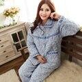 Pyjamas women+plus size XXXL 4XL 5XL nightgown sleepwear night shirt nightdress women's pajamas thick winter snow quilted jacket